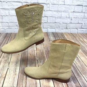 Jack Rogers Kaitlin Sand Suede Stitched Boot 9.5